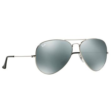 Ray Ban RB3025 003/40 Aviator Mirror Sunglasses Silver Frame Silver Mirror 62mm