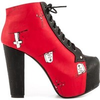 Iron Fist - Wish List Plat Bootie - Red