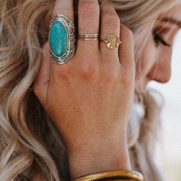 Seashore Oval Turquoise Ring