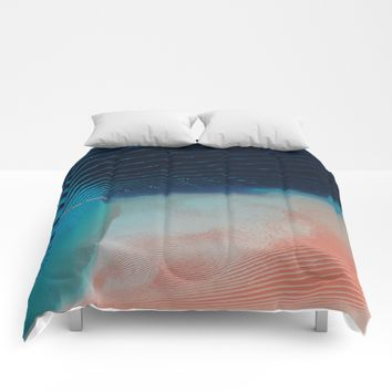 Ripples Comforters by DuckyB