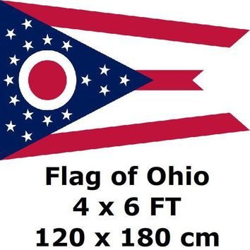Ohio Flag 4X6FT 100D Polyester State of US USA American United States Flags and Banners For Home Decoration
