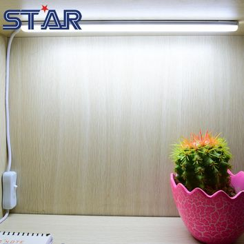 USB LED Desk Lamps 30cm Length SMD 2835 DC5V 90leds m LED Cabinet Closet Book Table Night Light with Switch LED Rigid Bar Strip