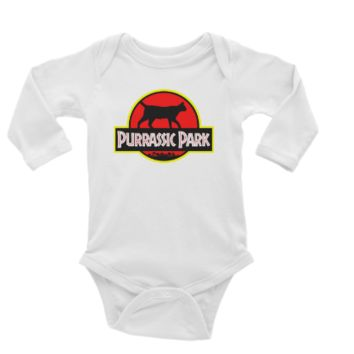 Purrassic Park Long or Short Sleeve Unisex Onesuit