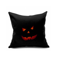Cotton Flax Pillow Cushion Cover Halloween    WS106