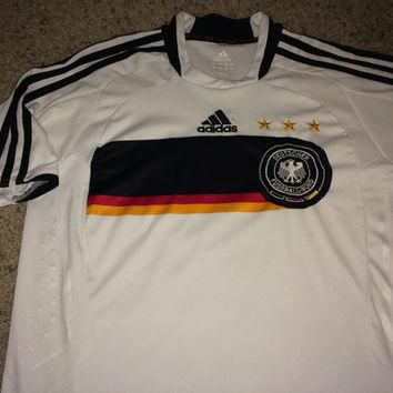 Sale!! Vintage Adidas GERMANY Soccer Jersey Deutschland Football shirt