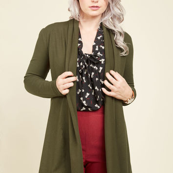Comfy My Way Cardigan in Basil | Mod Retro Vintage Sweaters | ModCloth.com