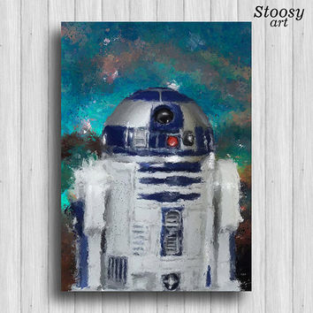 r2d2 poster star wars decor