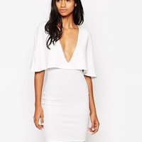 Club L Cape Overlay Dress