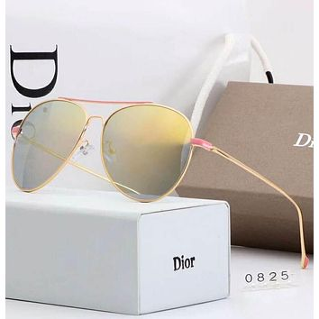 DIOR Trending Ladies Summer Sun Shades Eyeglasses Glasses Sunglasses(4-Color) Yellow I-A-SDYJ