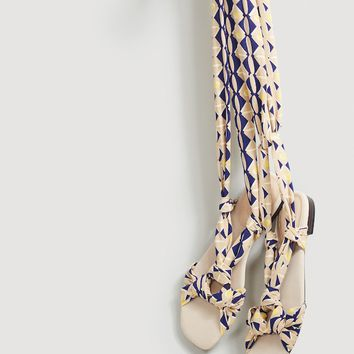 Printed straps sandals - Woman | MANGO United Kingdom
