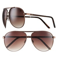 Jennifer Lopez Park Ave Oversized Aviator Sunglasses - Women