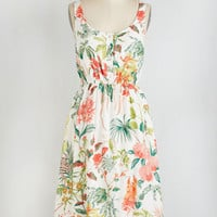 ModCloth Long Sleeveless A-line Carefree Latitude Dress