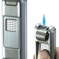 Visol Falcon Satin Gun Torch Flame Cigar Lighter