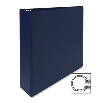 "Sparco Products 3-Ring Binder, 2"" Capacity,11""x8-1-2"", Dark Blue - CASE OF 8"