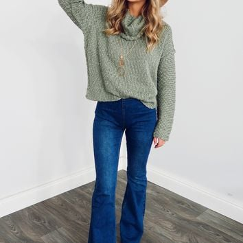 Say It All Sweater: Dusty Olive