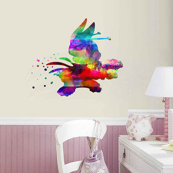 kcik2090 Full Color Wall decal Watercolor Lilo & Stitch Character Disney Sticker Disney children's room