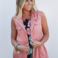 Pocket To Me Vest {Salmon}