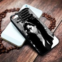 Amy Winehouse Quotes Custom Iphone 4 4s 5 5s 5c 6 6plus 7 case / cases