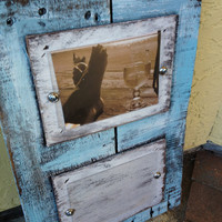 Repurposed wood rustic picture frames