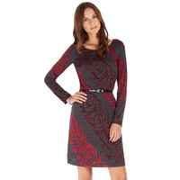 Indication Scroll Fit & Flare Dress