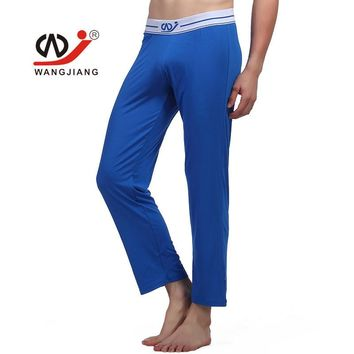 WJ Brand Men Underwear Sexy Men Warm Pants Men Long Johns Full Length Straight Lightweight Winter Wear Sleep Bottoms for Men
