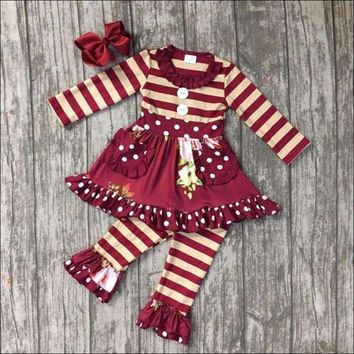 Baby Girls Fall clothes girls children boutique floral outfits