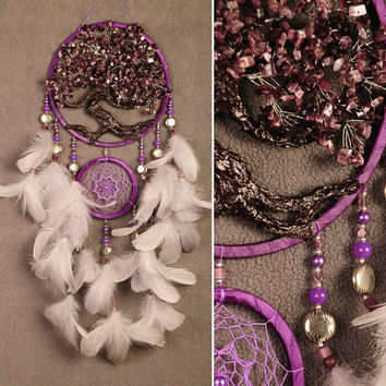 Violet Dream Catcher Tree of life Dreamcatcher Sangria Dream сatcher cat eye dreamcatchers decor handmade mulberry unique idea gift birthday