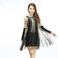 Great Gatsby Ombre Flapper Charleston Dress