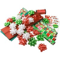 Christmas Brights Paper Gift Wrap Paper and Accessories Kit - Walmart.com