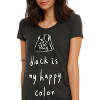 Star Wars Darth Vader Black Is My Happy Color Girls T-Shirt