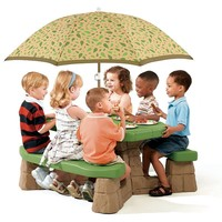 Step2 Naturally Playful Picnic Table with Umbrella (Stone)