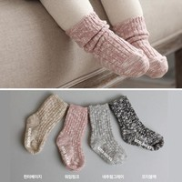 2016 Fashion Pure Cotton Coarse Needle Flowers Baby Non-slip Meias Calcetines Children Bamboo Cotton Breathable Baby Kids Socks