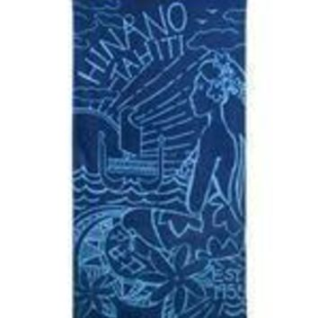 "Hinano ""Overseas"" Midnight Hinano Girl Beach Towel"