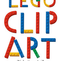 Digital Lego Clipart, 26 Letters and 10 Numbers digital clipart, lego alphabet clipart, lego number clipart, digital alphabet