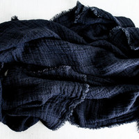 Washed Linen Waffle Throw Blanket : Black – Spartan