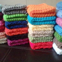 Set of 3 Crochet Dish Cloth or Wash Cloth Homemade