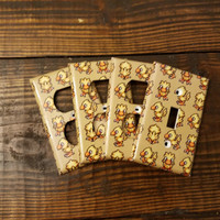 Chocobo Light Switch And Outlet Covers | Final Fantasy 7 - Set of 4 - Playstation - Square Soft - Chocobo Decal -