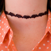 Black Bat Choker / 90s Choker / Cute Goth Choker / Bat Necklace