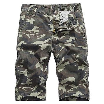 Summer Casual Camouflage Fine Straight Men Short Pants