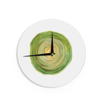 "Theresa Giolzetti ""Leeks"" Green White Wall Clock"