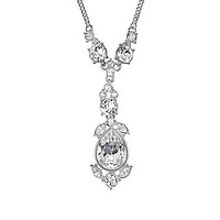 Givenchy Magma Crystal Y-Necklace - Silver/Crystal