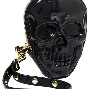 SKULL JELLY WRISTLET BLACK