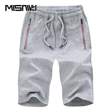 Summer New Cotton Men Shorts Casual Slim Fit Solid Beach Shorts Man Compression Shorts
