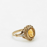 Vintage Yellow Topaz Scalloped Ring - Urban Outfitters