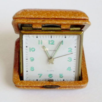 Vintage Broadway Travel Alarm Clock