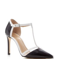 MICHAEL Michael Kors Samantha T-Strap Pointed Toe High Heel Pumps | Bloomingdales's