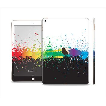 The Rainbow Paint Spatter Skin Set for the Apple iPad Air 2