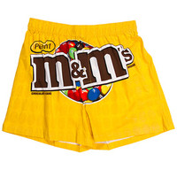 M&M's Candy Logo Boxer Shorts - Peanut Yellow - Large