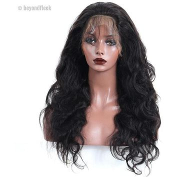 180% Density 360 Lace Frontal Brazilian Body Wave Wig Pre Plucked With Baby Hair