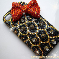 iphone 5 case, bling iphone 5 case, Studded iPhone 4 Case, studded iphone 5 case, leopard unique iphone 5 case, iphone 4s case rhinestone